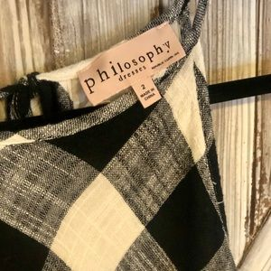Philosophy Dresses - Philosophy Plaid Tank Dress With Fringed Hem